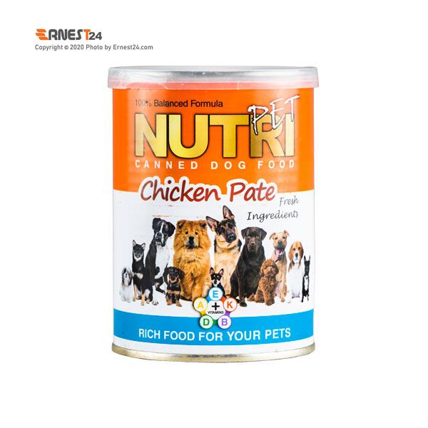 کنسرو غذای سگ نوتری حاوی گوشت مرغ و سبزیجات وزن 425 گرم عکس استفاده شده در سایت ارنست 24 - ernest24.com