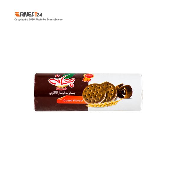 بیسکویت کاکائویی کرم دار جوانه مینو وزن 185 گرم عکس استفاده شده در سایت ارنست 24 - ernest24.com