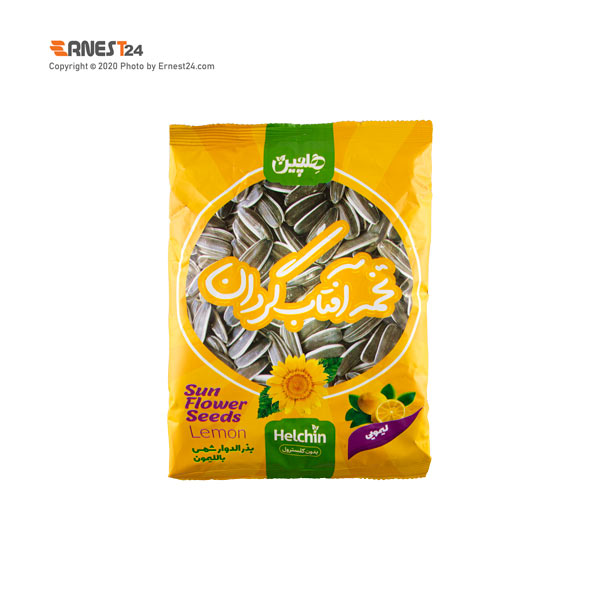 تخمه آفتابگردان لیمویی هلچین وزن 100 گرم عکس استفاده شده در سایت ارنست 24 - ernest24.com