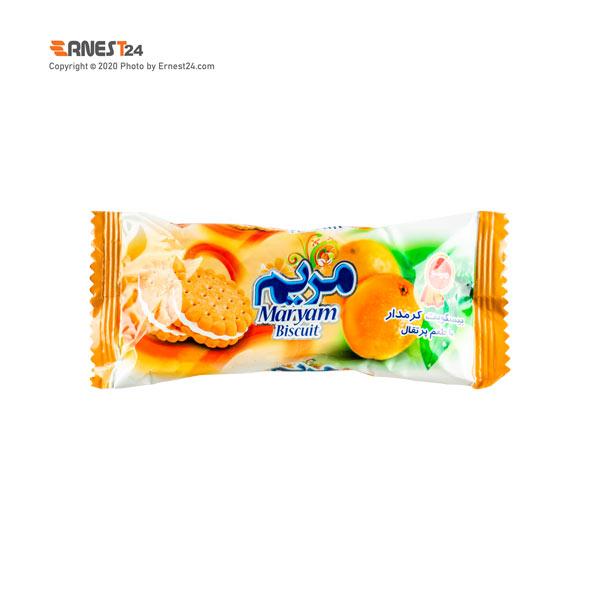 بیسکویت کرم دار با طعم پرتقال مریم مینو وزن 38 گرم عکس استفاده شده در سایت ارنست 24 - ernest24.com