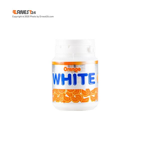 آدامس بدون شکر با طعم پرتقال وایت وزن 60 گرم عکس استفاده شده در سایت ارنست 24 - ernest24.com