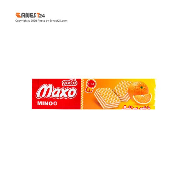ویفر با طعم پرتقال ماکسو مینو وزن 93 گرم عکس استفاده شده در سایت ارنست 24 - ernest24.com