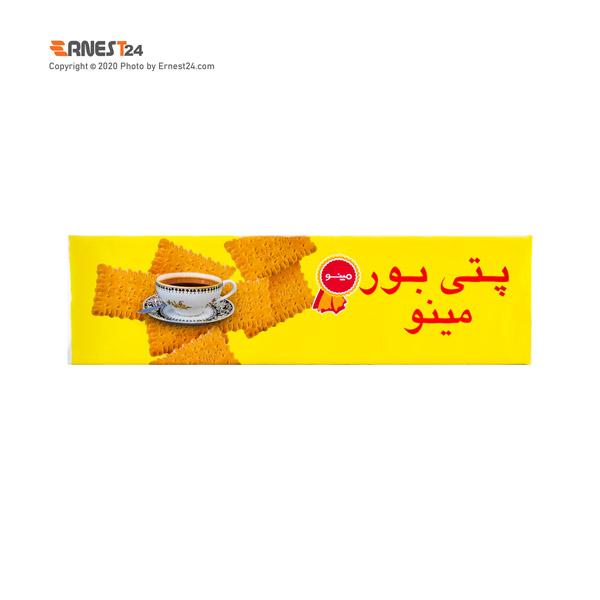 بیسکویت پتی بور مینو وزن 100 گرم عکس استفاده شده در سایت ارنست 24 - ernest24.com