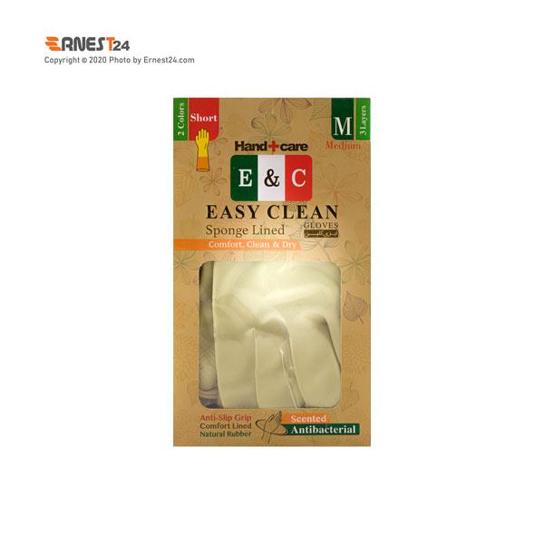 دستکش ظرفشویی ساق کوتاه ایزی کلین سایز متوسط عکس استفاده شده در سایت ارنست 24 - ernest24.com