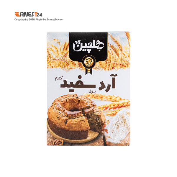 آرد سفید گندم هلچین وزن 500 گرم عکس استفاده شده در سایت ارنست 24 - ernest24.com