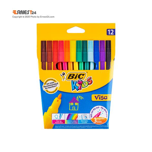 پک ماژیک رنگ آمیزی 12 رنگ بیک مدل visa عکس استفاده شده در سایت ارنست 24 - ernest24.com