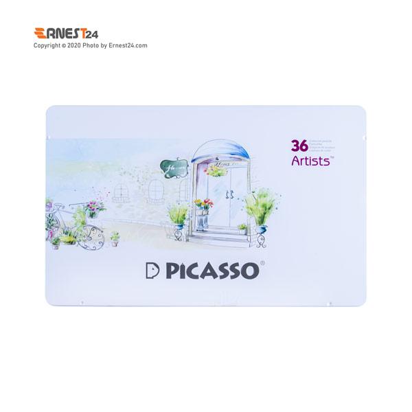 مداد رنگی 36 رنگ پیکاسو مدل آرتیست بسته بندی فلزی عکس استفاده شده در سایت ارنست 24 - ernest24.com