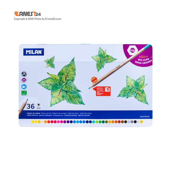 مداد رنگی 36 رنگ میلان سایز 3.3mm بسته بندی فلزی عکس استفاده شده در سایت ارنست 24 - ernest24.com