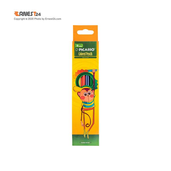 مداد رنگی 6 رنگ پیکاسو عکس استفاده شده در سایت ارنست 24 - ernest24.com