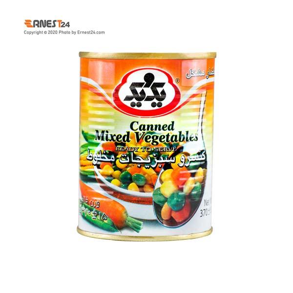 کنسرو مخلوط سبزیجات یک و یک وزن 370 گرم عکس استفاده شده در سایت ارنست 24 - ernest24.com