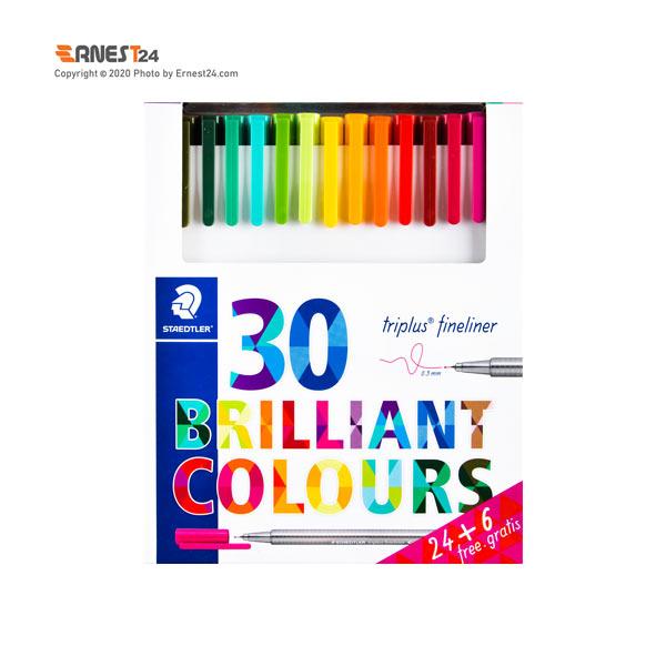 پک روان نویس رنگی 30 عددی استدلر مدل Triplus Fineliner عکس استفاده شده در سایت ارنست 24 - ernest24.com