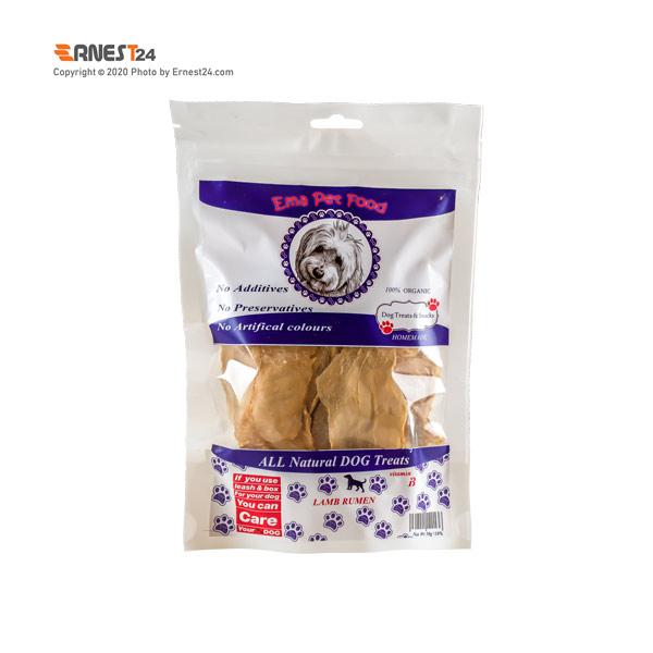 غذای تشویقی سگ چیپس سیرابی اِما پت فود 50 گرم عکس استفاده شده در سایت ارنست 24 - ernest24.com