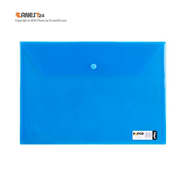 پوشه دکمه دار مات پاپکو رنگ آبی عکس استفاده شده در سایت ارنست 24 - ernest24.com