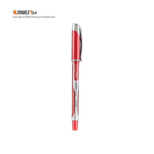 خودکار قرمز کلارو مدل Sigma Pluse عکس استفاده شده در سایت ارنست 24 - ernest24.com