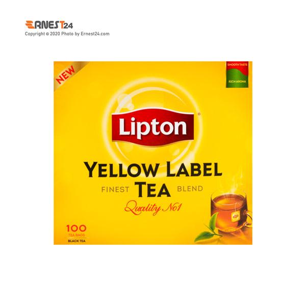 چای سیاه کیسه ای لیپتون مدل زرد نشان بسته ۱۰۰ عددی