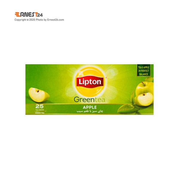چای سبز کیسه ای لیپتون با طعم سیب بسته 25 عددی عکس استفاده شده در سایت ارنست 24 - ernest24.com