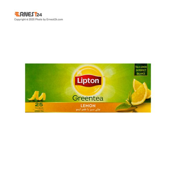 چای سبز کیسه ای لیپتون با طعم لیمو بسته 25 عددی عکس استفاده شده در سایت ارنست 24 - ernest24.com