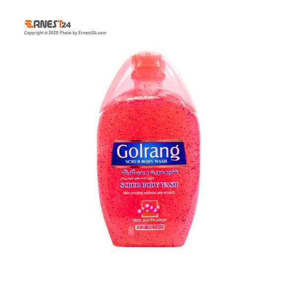 شامپو صورت و بدن اسکراب گلرنگ رنگ قرمز وزن 280 گرم عکس استفاده شده در سایت ارنست 24 - ernest24.com