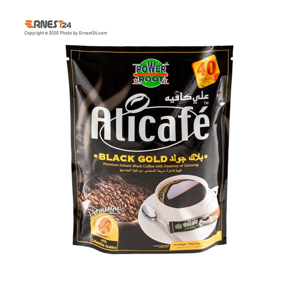 پودر قهوه بلک گلد علی کافه بسته 40 عددی عکس استفاده شده در سایت ارنست 24 - ernest24.com