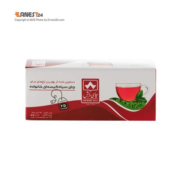 چای سیاه کیسه ای خانواده دبش 25 عددی عکس استفاده شده در سایت ارنست 24 - ernest24.com