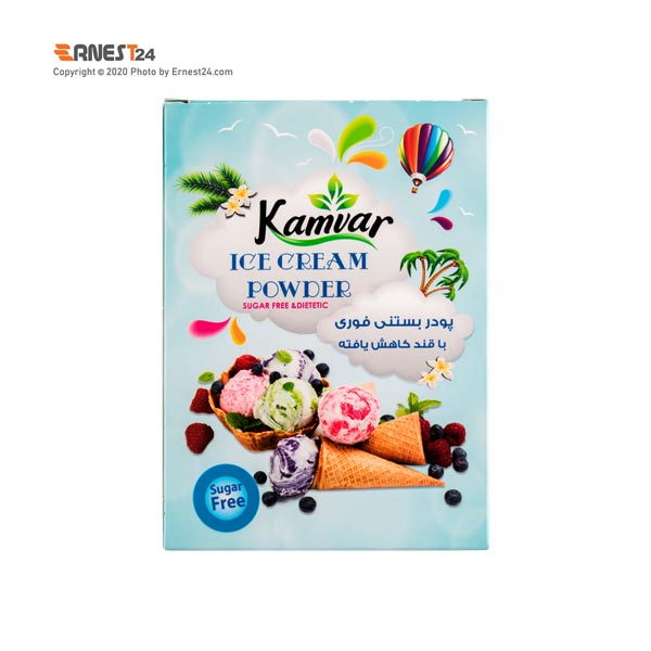 پودر بستنی فوری با قند کاهش یافته کامور وزن 56 گرم عکس استفاده شده در سایت ارنست 24 - ernest24.com