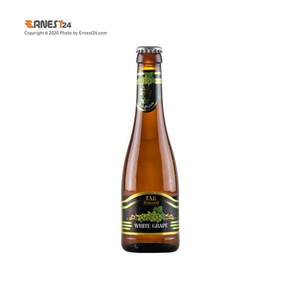 نوشیدنی گازدار با طعم انگورسفید تاک بهنوش حجم 300 میلی لیتر عکس استفاده شده در سایت ارنست 24 - ernest24.com