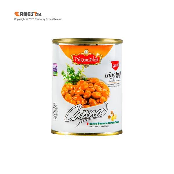 کنسرو لوبیا چیتی با سس گوجه فرنگی شاهسوند وزن 370 گرم