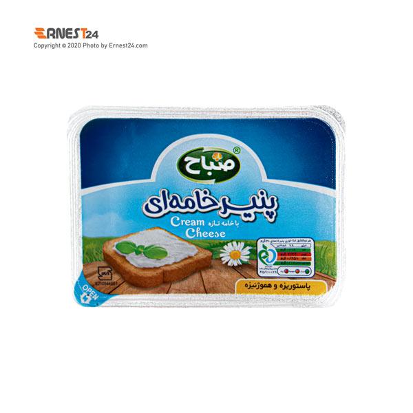 پنیر خامه ای صباح وزن 170 گرم عکس استفاده شده در سایت ارنست 24 - ernest24.com