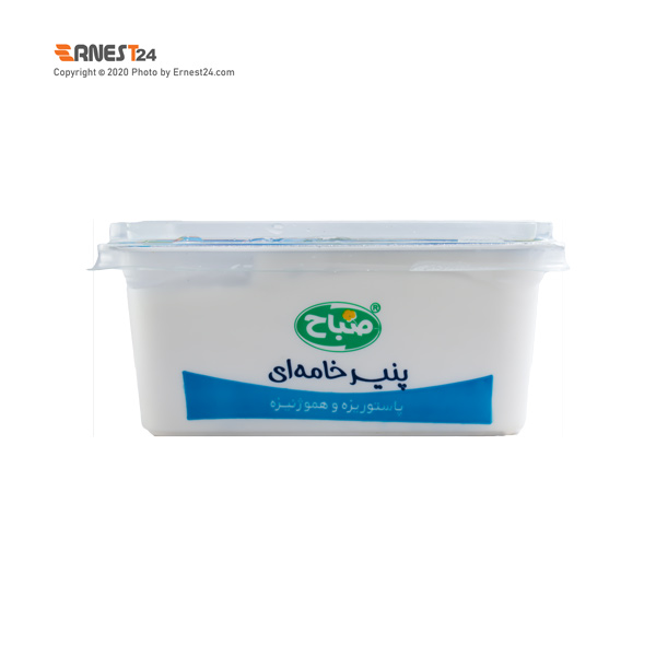 پنیر خامه ای صباح وزن 270 گرم عکس استفاده شده در سایت ارنست 24 - ernest24.com