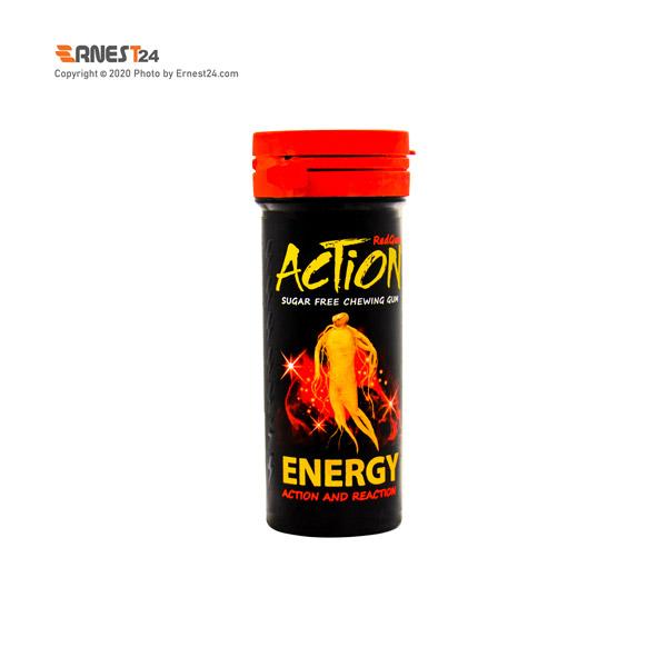 آدامس بدون قند انرژی زای اکشن وزن 38 گرم عکس استفاده شده در سایت ارنست 24 - ernest24.com