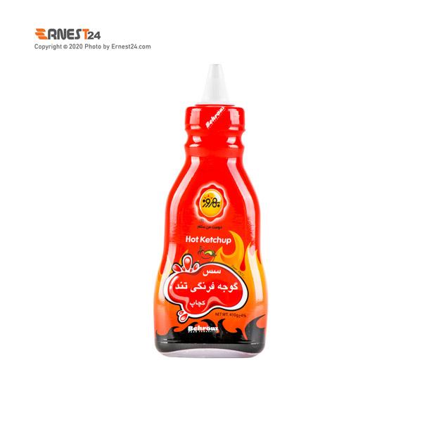 سس گوجه فرنگی تند کچاپ بهروز وزن 410 گرم عکس استفاده شده در سایت ارنست 24 - ernest24.com