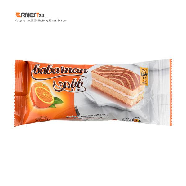 کیک دو لایه پرتقالی با مغزی کرم شیری بابانا وزن 30 گرم عکس استفاده شده در سایت ارنست 24 - ernest24.com