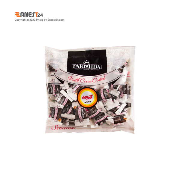 فراورده کنجدی با روکش شکلاتی پارمیدا وزن 350 گرم عکس استفاده شده در سایت ارنست 24 - ernest24.com