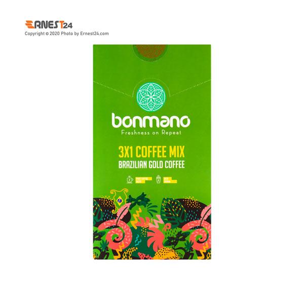 پودر کافی میکس با قهوه گلد برزیلی بن مانو بسته 20 عددی عکس استفاده شده در سایت ارنست 24 - ernest24.com