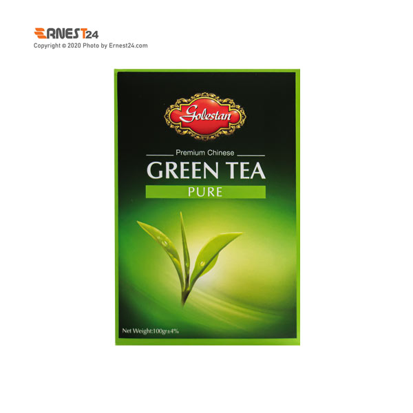 چای سبز خالص ممتاز چین گلستان وزن 100 گرم عکس استفاده شده در سایت ارنست 24 - ernest24.com