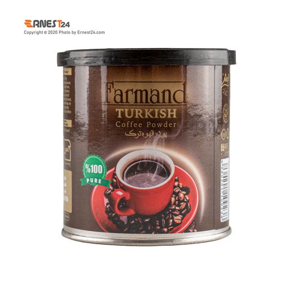 پودر قهوه ترک فرمند وزن 100 گرم نمای پشت کالا عکس استفاده شده در سایت ارنست 24 - ernest24.com
