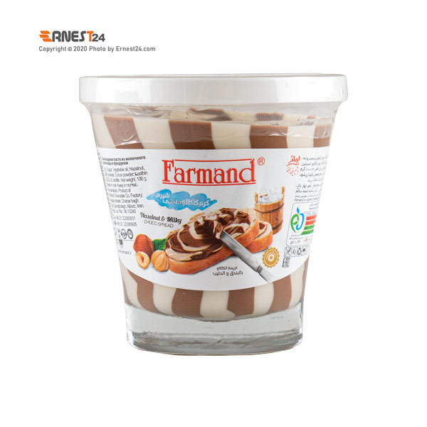 شکلات صبحانه دو رنگ فرمند وزن 100 گرم عکس استفاده شده در سایت ارنست 24 - ernest24.com