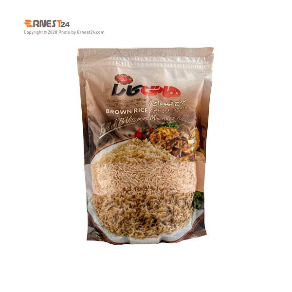 برنج قهوه ای هاتی کارا وزن ۹۰۰ گرم عکس استفاده شده در سایت ارنست 24 - ernest24.com