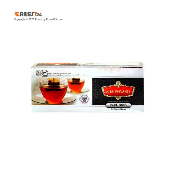 چای سیاه کیسه ای ارل گری شاهسوند 25 عددی عکس استفاده شده در سایت ارنست 24 - ernest24.com