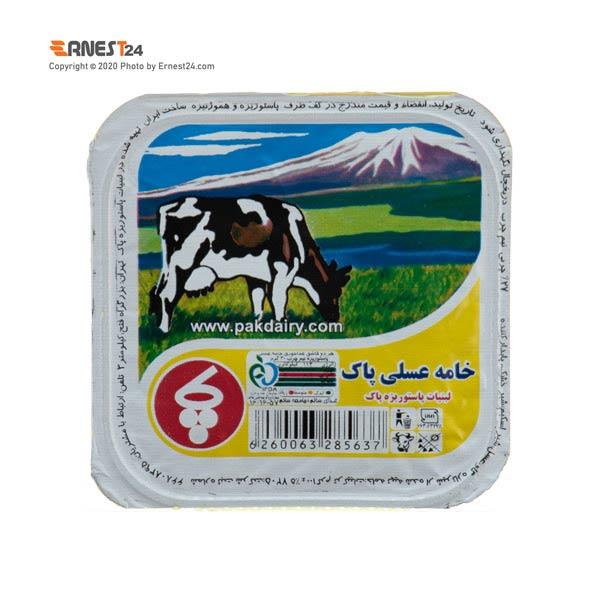 خامه عسلی پاک وزن ۱۰۰ گرم نمای بالای کالا عکس استفاده شده در سایت ارنست 24 - ernest24.com