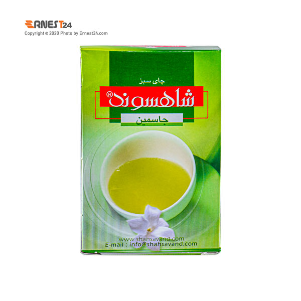 چای سبز جاسمین شاهسوند وزن 454 گرم عکس استفاده شده در سایت ارنست 24 - ernest24.com