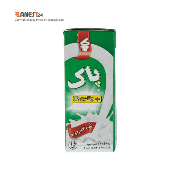 شیر کم چرب غنی شده پاک وزن 200 گرم عکس استفاده شده در سایت ارنست 24 - ernest24.com