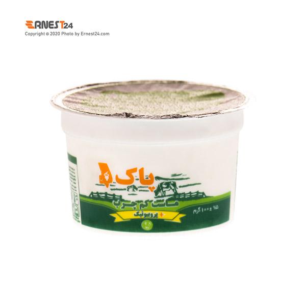ماست کم چرب پروبیوتیک پاک وزن ۱۰۰ گرم عکس استفاده شده در سایت ارنست 24 - ernest24.com