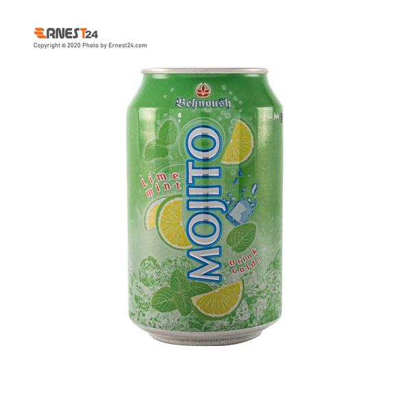 نوشیدنی گازدار با طعم موهیتو بهنوش حجم ۳۳۰ میلی لیتر عکس استفاده شده در سایت ارنست 24 - ernest24.com