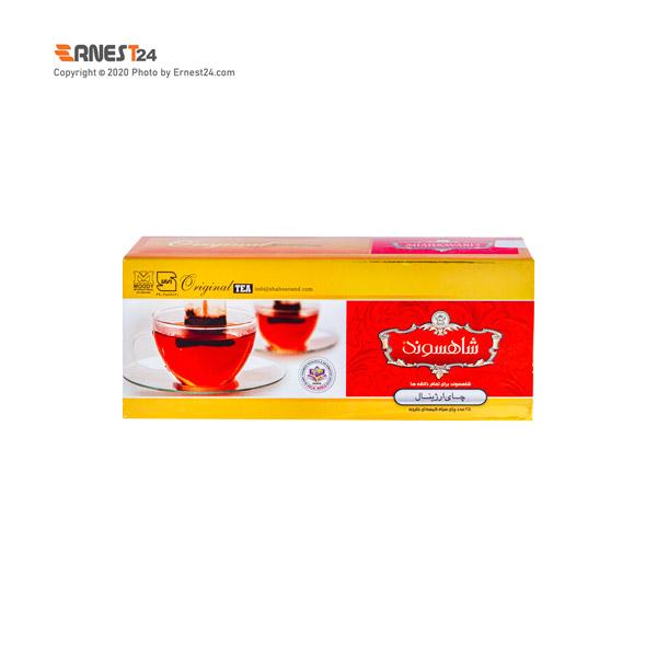 چای سیاه کیسه ای ارژینال شاهسوند 25 عددی عکس استفاده شده در سایت ارنست 24 - ernest24.com