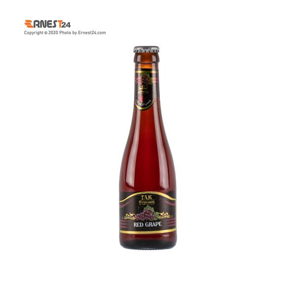 نوشیدنی گازدار با طعم انگور قرمز تاک بهنوش حجم ۲۸۰ میلی لیتر عکس استفاده شده در سایت ارنست 24 - ernest24.com