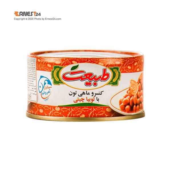 کنسرو تن ماهی با لوبیا چیتی طبیعت وزن 180 گرم عکس استفاده شده در سایت ارنست 24 - ernest24.com
