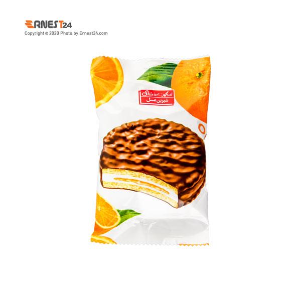 بیسکویت مغز دار پرتقالی با روکش شکلاتی شیرین عسل وزن 35 گرم عکس استفاده شده در سایت ارنست 24 - ernest24.com