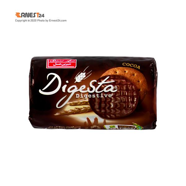 بیسکویت سبوس دار با کرم شکلاتی دایجستا شیرین عسل وزن 190 گرم عکس استفاده شده در سایت ارنست 24 - ernest24.com