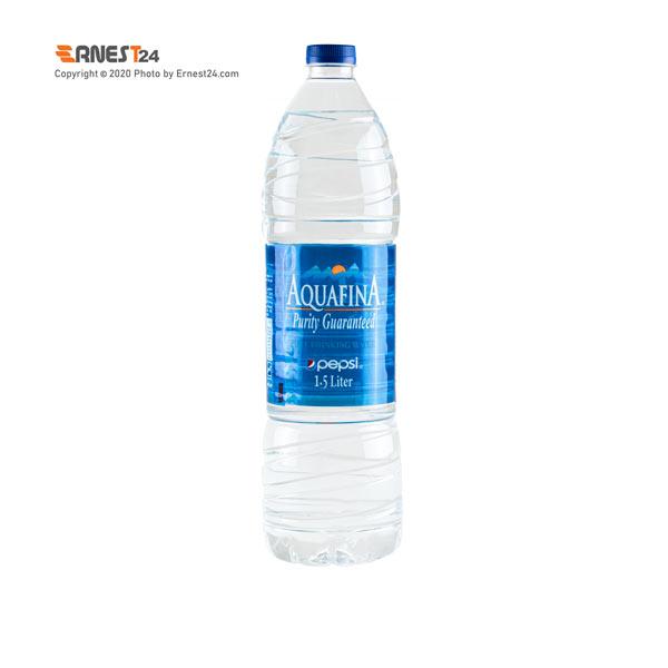 آب آشامیدنی آکوافینا حجم 1500 میلی لیتر نمای پشت کالا عکس استفاده شده در سایت ارنست 24 - ernest24.com